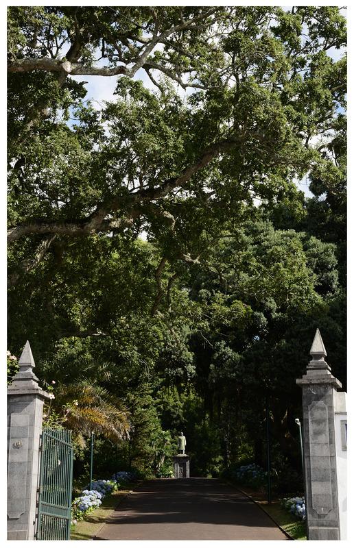 Vista da entrada do Jardim José do Canto, Ponta Delgada