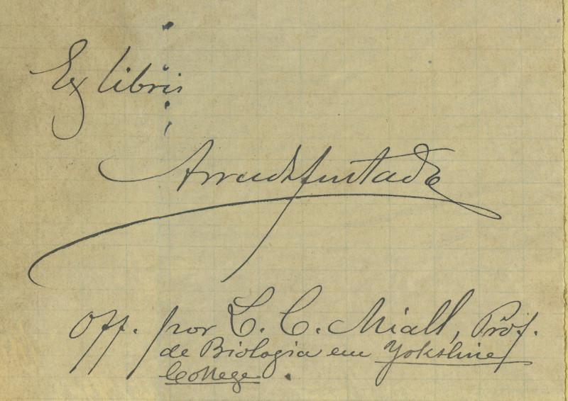 Ex-libris de Arruda Furtado em papel recortado. MUL, Arquivo Histórico, Espólio Arruda Furtado.
