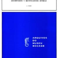 Estudios sobre Bupréstidos de la fauna etiópica. III - Descriptiones y rectificaciones diversas