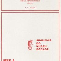 Aves de Portugal. Catálogo - I e notas ornitológicas (Ilhas)