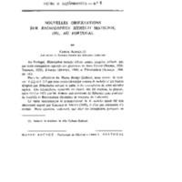 Nouvelles observations sur Rhinolophus mehelyi Matschie, 1901 au Portugal