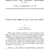 Novos dados sobre Elanus caeruleus (Desf.)