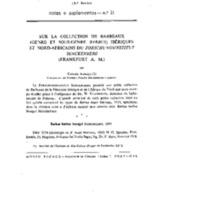 Sur la collection de Barbeaux (genre et sous-genre Barbus) Ibériques et Nord-Africains du Forschungsinstitut Senckenberg