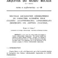 Nouvelle localisation géographique du caractère autogène pour Culiseta (Allotheobaldia) longiareolata (Macquart) 1838 (Diptera: Culicidae)