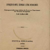 Catálogo da exposição de Artes, Sciencias e Letras Michaelenses