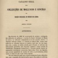 Catálogo geral das collecções de Molluscos e conchas da secção zoológica do Museu de Lisboa