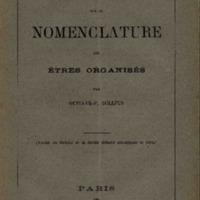 Essai sur la nomenclature des êtres organisés