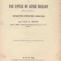 Note sur une espèce du genre Maillot (Pupa drap.) qui paraît être nouvelle pour la malacologie