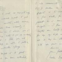 Reprodução de parte de uma das cartas de Charles Darwin.