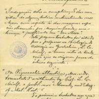 Manuscrito de Arruda Furtado sobre as suas publicações e relações científicas, que terá sido escrito entre Março e Junho de 1881.