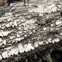 Amostra mineralógica da mina da panasqueira mostrando Pormenor de amostra de arsenopirite