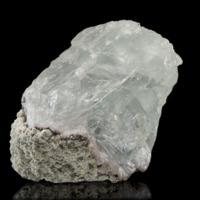 Amostra mineralógica da mina da panasqueira mostrando Fluorite verde pálida