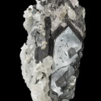 Amostra mineralógica da mina da panasqueira mostrando Volframite e dolomite