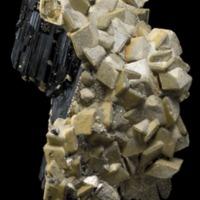 Amostra mineralógica da mina da panasqueira mostrando Siderite