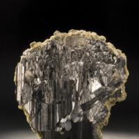 Amostra mineralógica da mina da panasqueira mostrando Volframite
