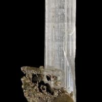 Amostra mineralógica da mina da panasqueira mostrando Apatite