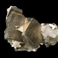 Amostra mineralógica da mina da panasqueira mostrando Pirite
